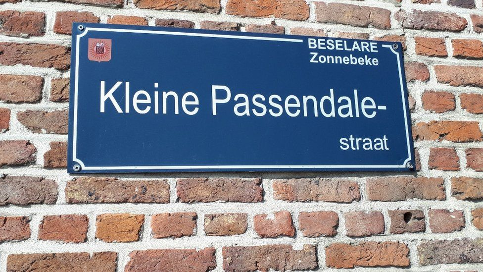 Passchendaele street sign