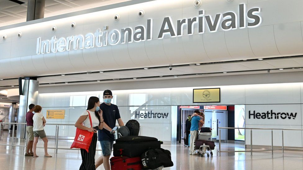 Passengers arrive at Heathrow