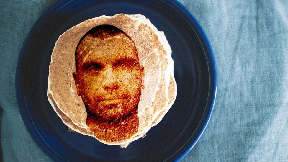 A mugshot on a pancake