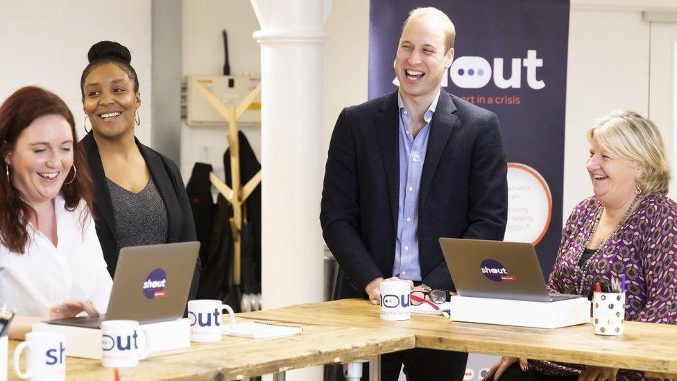 The Duke of Cambridge meets Shout volunteers