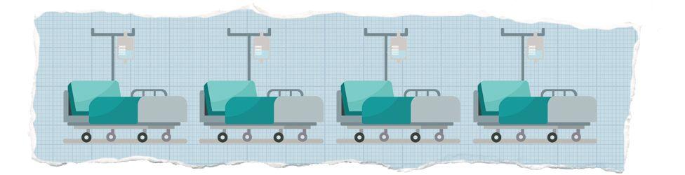 Hospital bed illustration