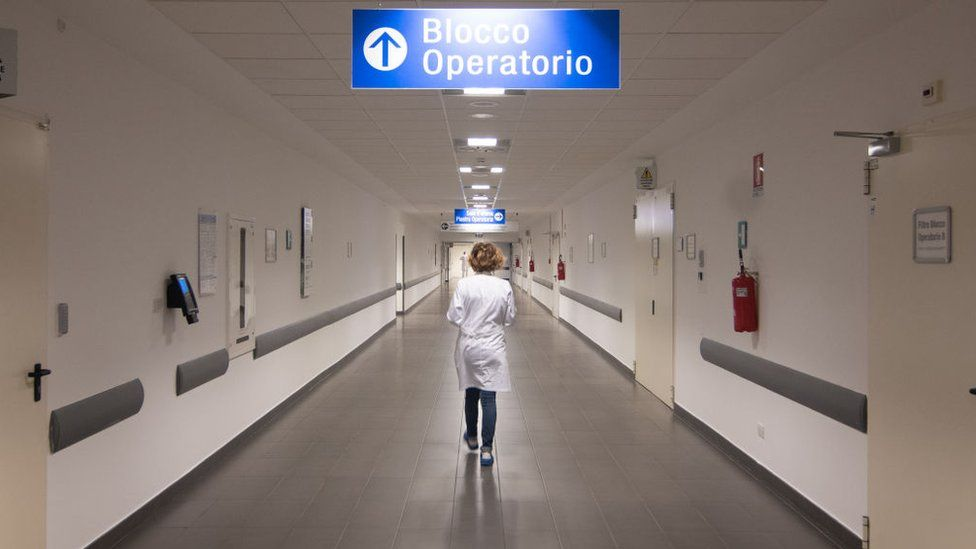 Corridor in a Venice hospital