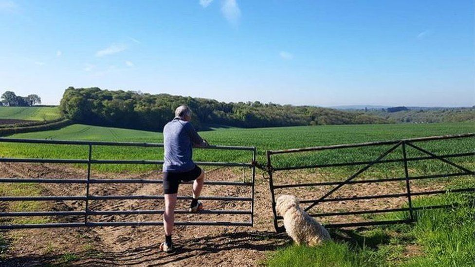 The Chiltern Hills in south-east England