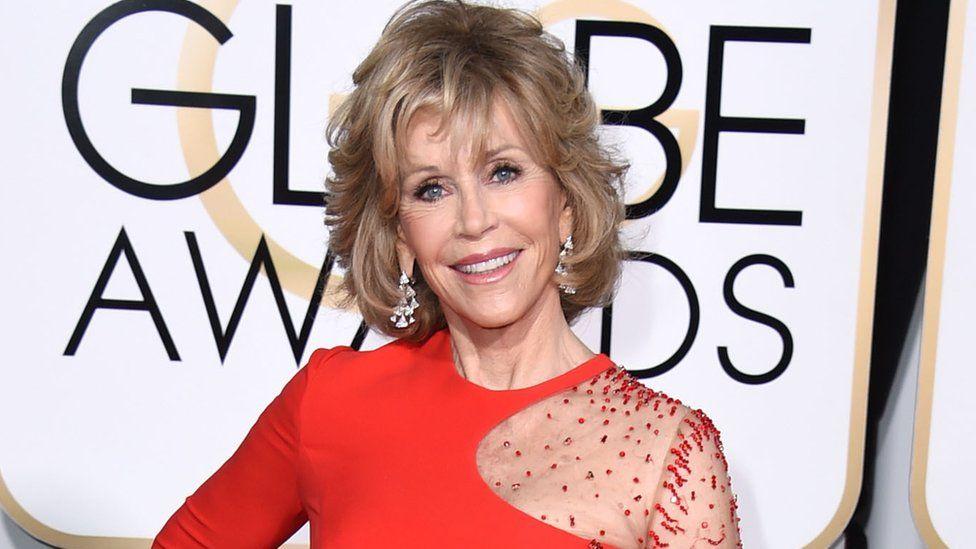 Jane Fonda at the Golden Globe Awards in 2015