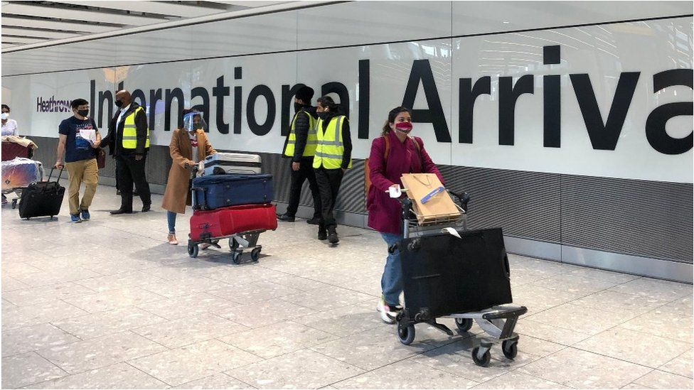 Arrivals at Heathrow on Friday 23 April