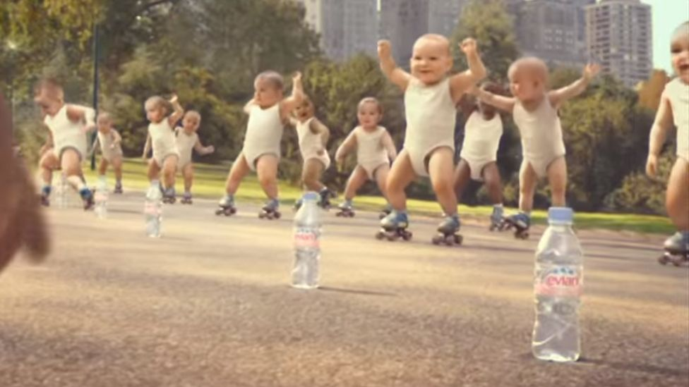 Evian's dancing babies advert