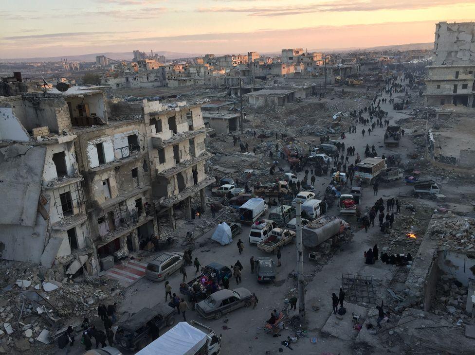 The evacuation of east Aleppo, December 2016