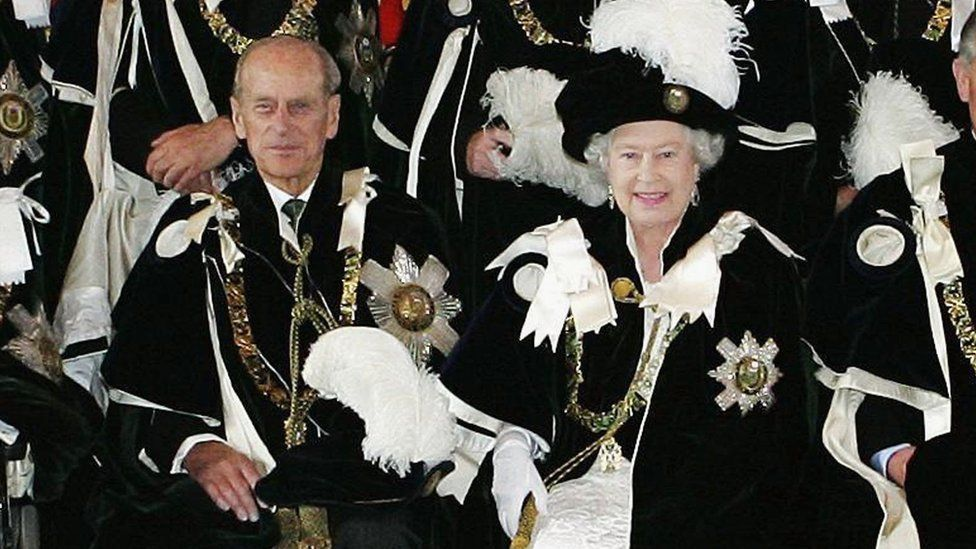 The Queen and the prince at the Order of the Thistle ceremony at St Giles Cathedral in Edinburgh in 2006