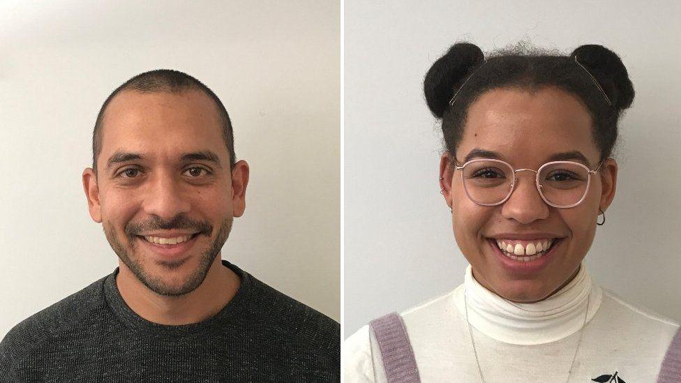 Ray Kareem and Olivia Sweeney