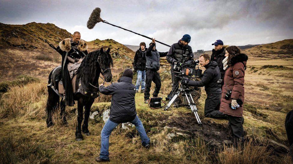 Filming for the film Beddgelert