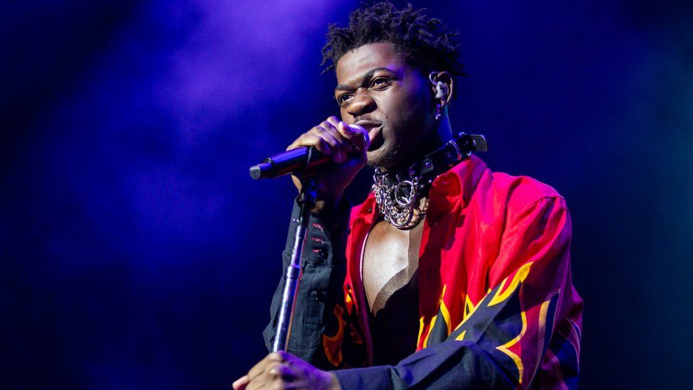 Lil Nas X performing on stage