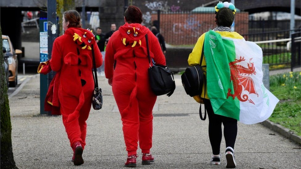 Welsh dragons in Cardiff