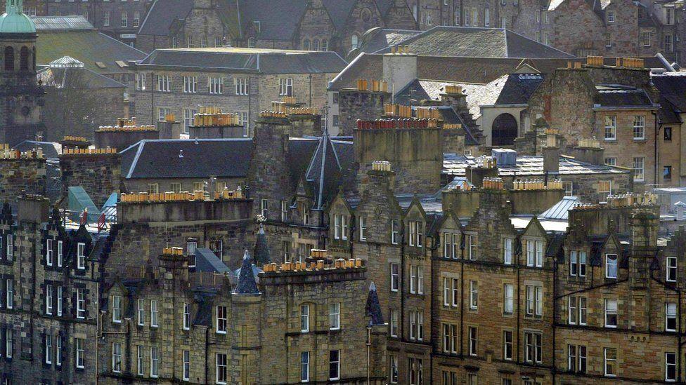 View of Edinburgh's architecture