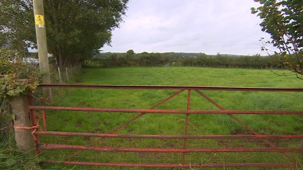 Site for the proposed chicken shed
