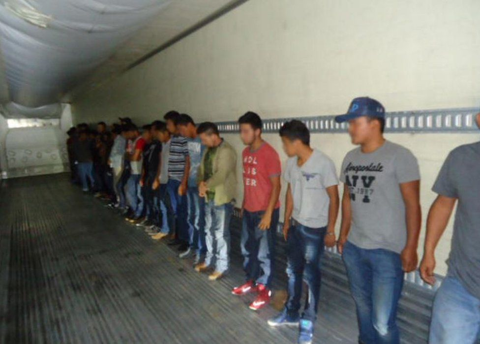Thirty-three migrants were found in a trailer in the same part of Texas earlier this month
