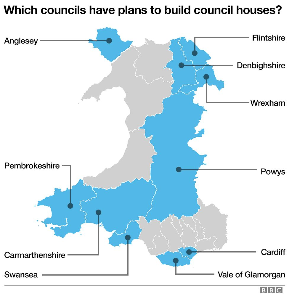 Map of which authorities want to build council houses