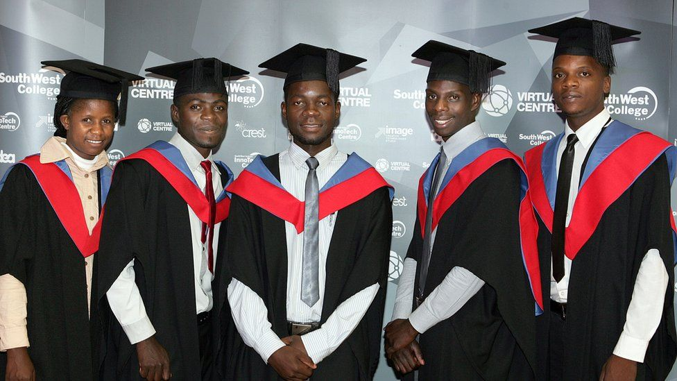 Graduation picture of Zambian students from South West College.