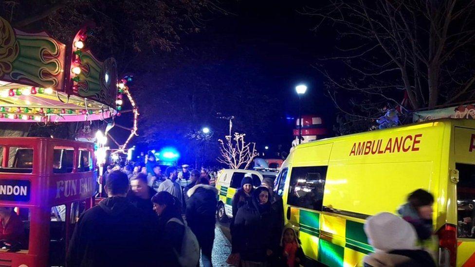 Ambulance at Woking Fireworks