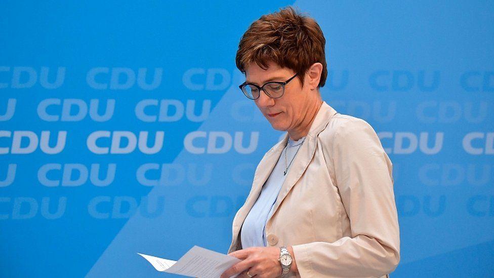 Annegret Kramp-Karrenbauer, leader of Germany's conservative CDU party, on June 2, 2019