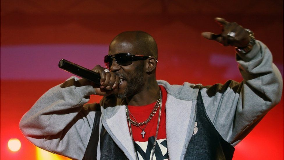 Rapper DMX performing