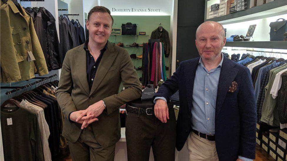 Andrew Doherty (r) and Thomas Stott