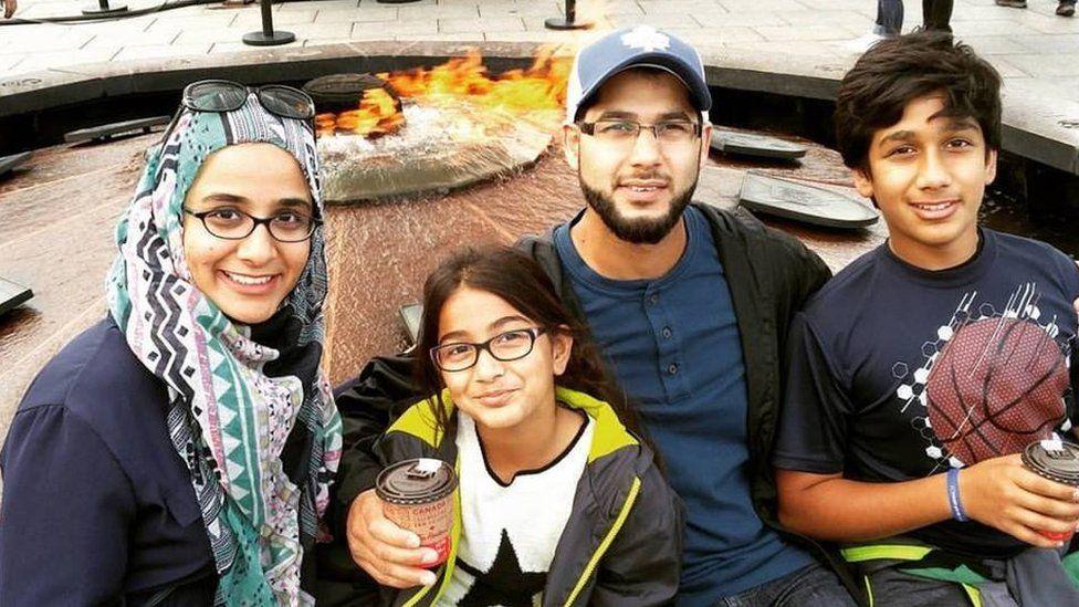 Sheza Hasan with her family