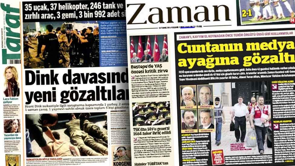 Turkish newspapers Taraf and Zaman