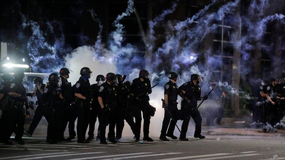 Police react after flares went off in Rochester