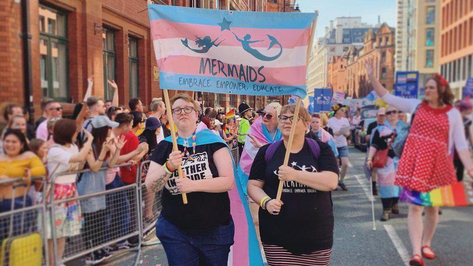 Mermaids at Manchester Pride