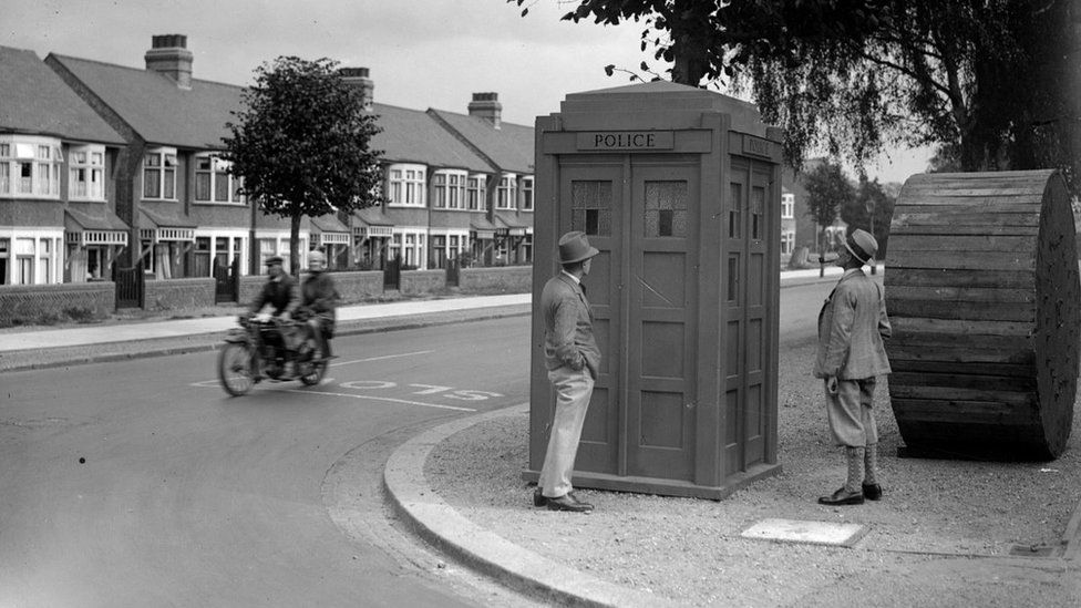 A police box in c1926