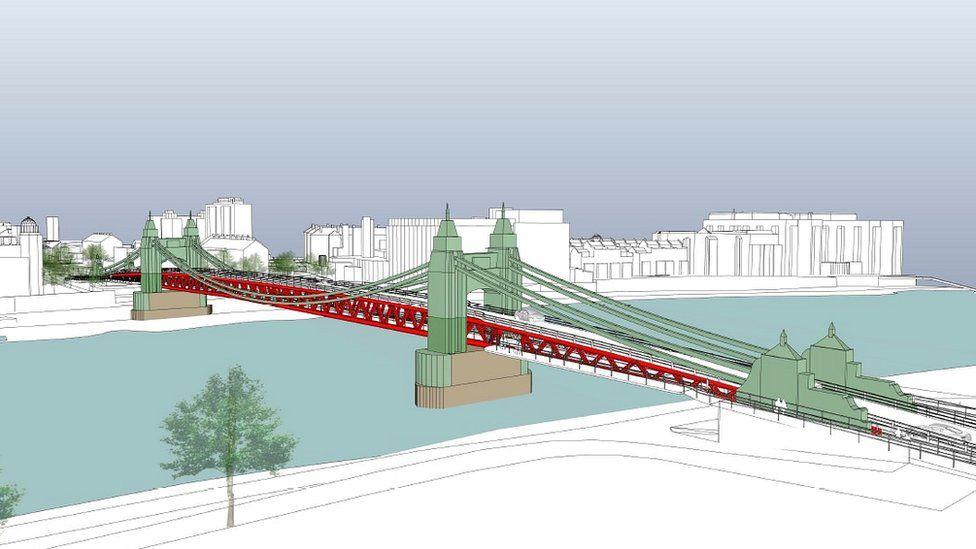 Proposed double-decker bridge