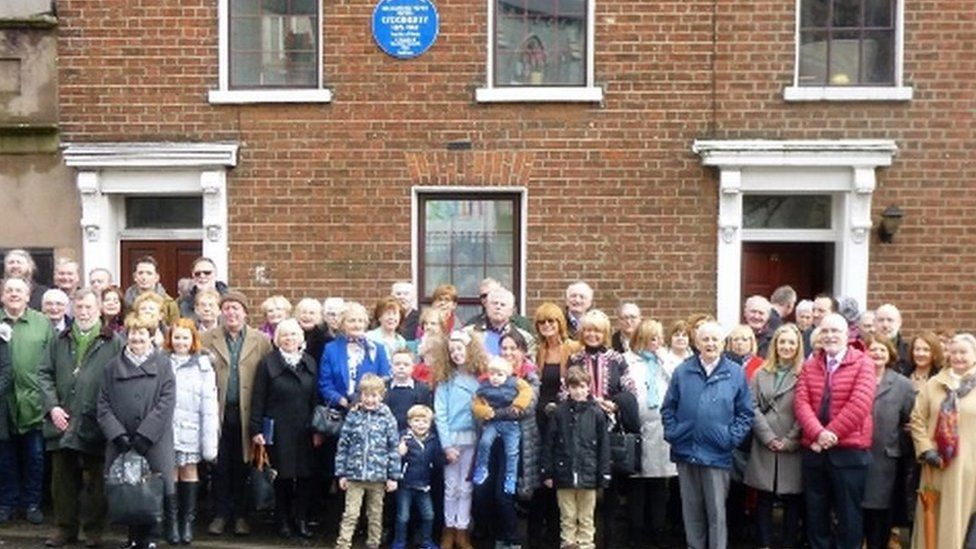 The plaque was unveiled in Francis Street