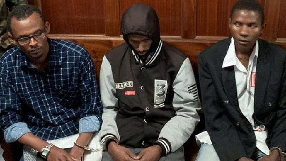 The suspects awaiting their verdict in court on 19 June