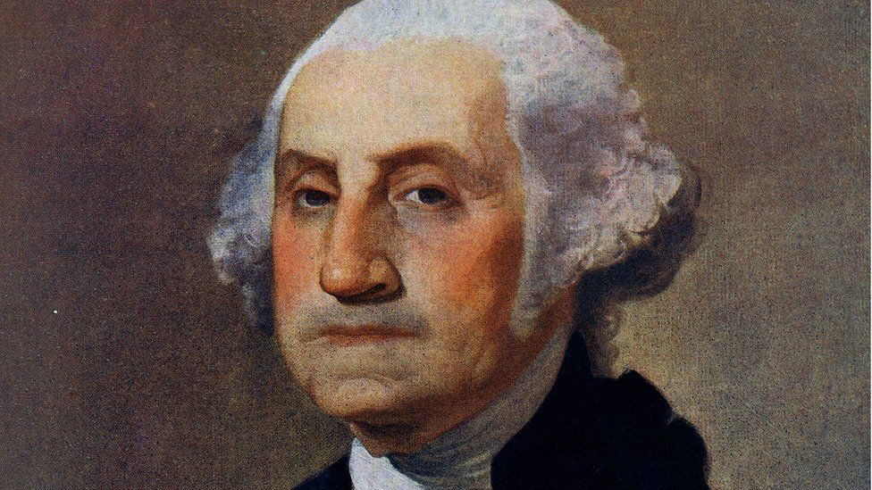 Portrait of George Washington (1732-1799) Painted by Gilbert Stuart