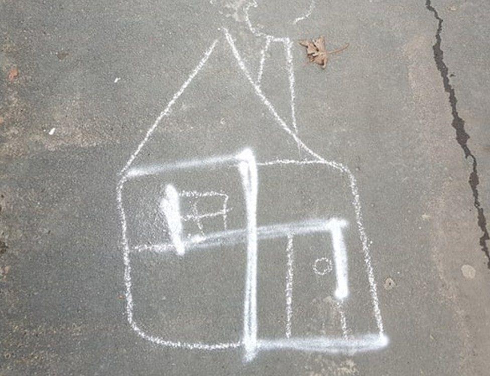Swastika turned into a house
