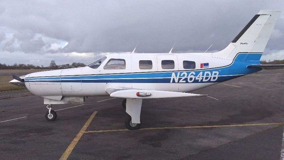 The plane that crashed, killing Emiliano Sala and David Ibbotson, on the runway
