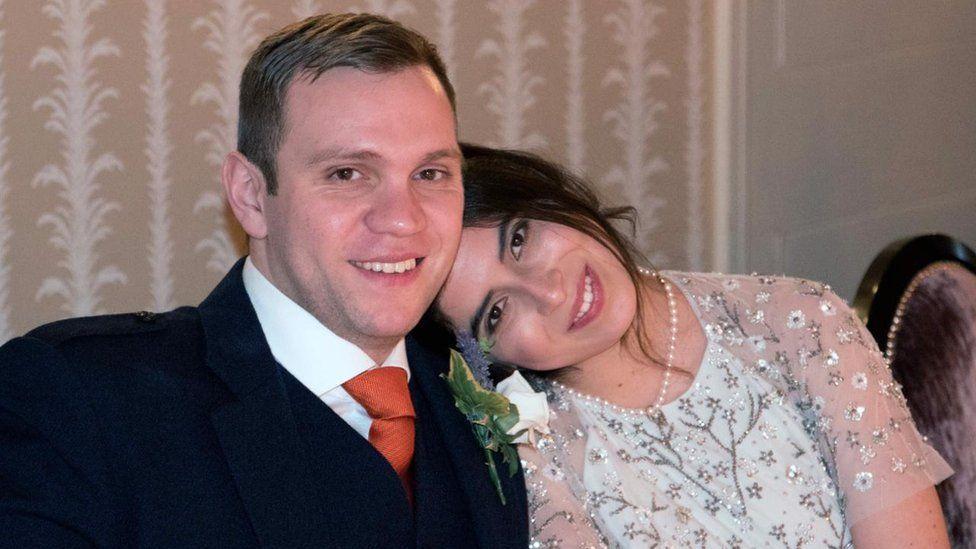 Matthew Hedges and his wife, Daniela Tejada