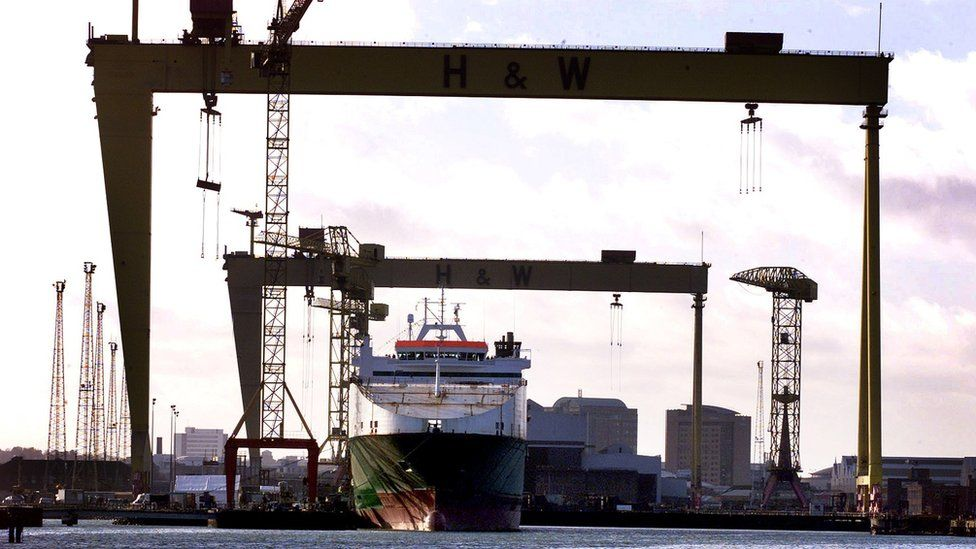 The Anvil Point beneath the Harland and Wolff cranes