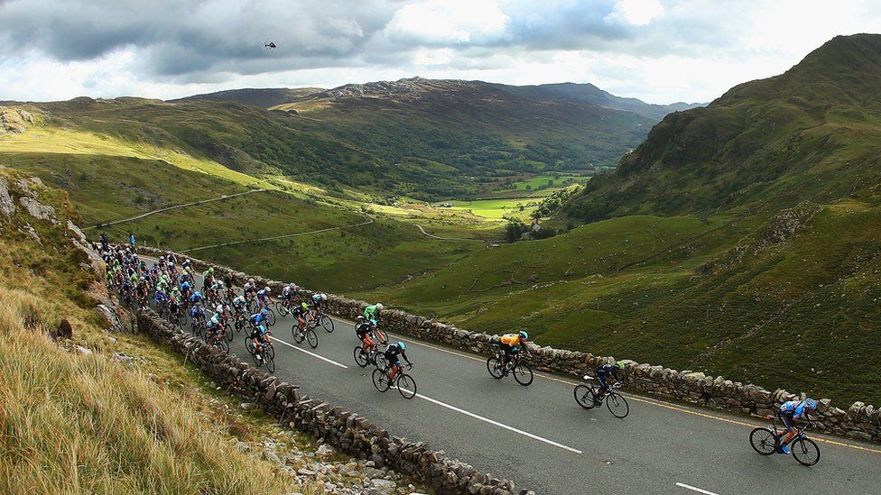 Llanberis pass is popular with cyclists, and in 2013 hosted the Tour of Britain