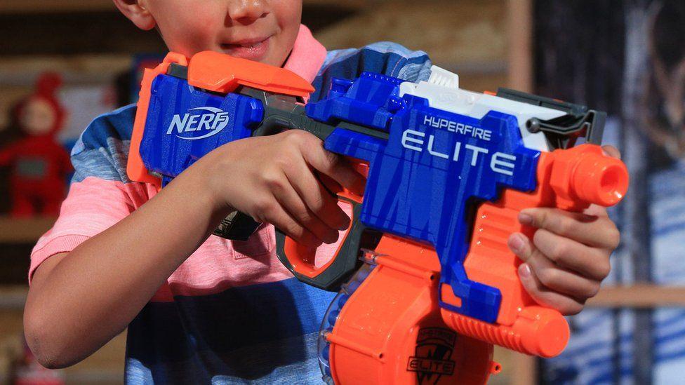 A Nerf gun