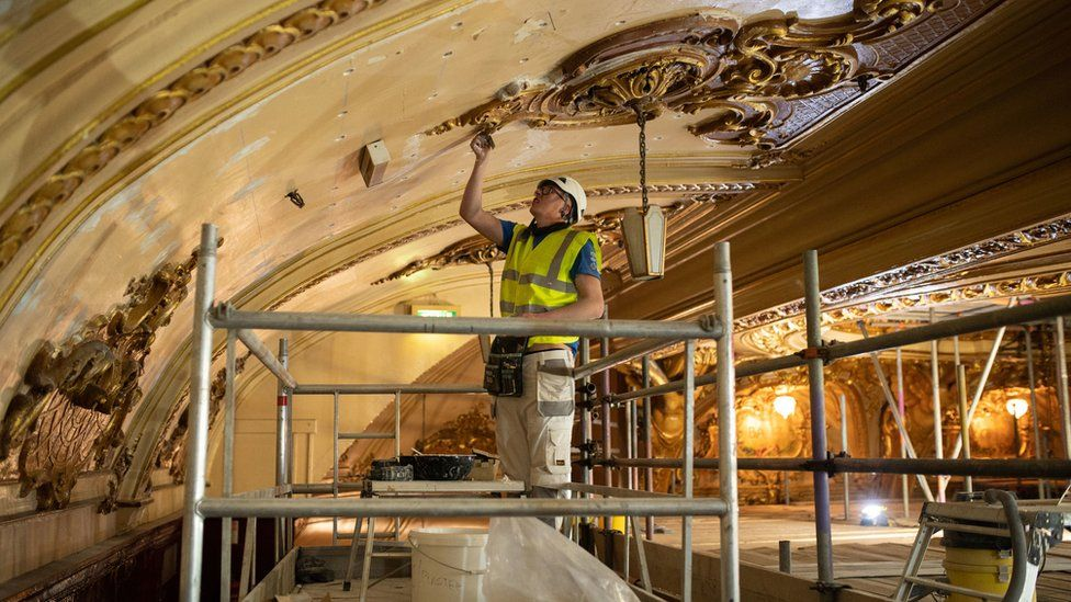 Refurb Blackpool Tower Ball ceiling