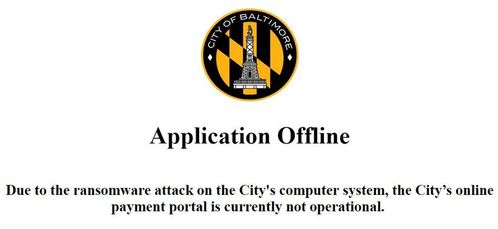 City of Baltimore website