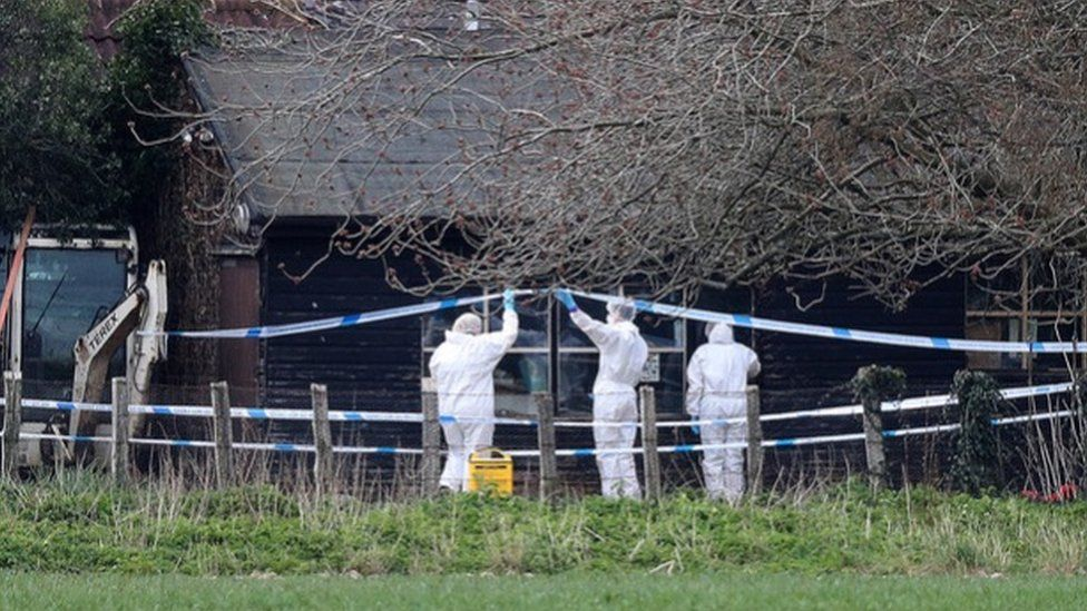 Forensics officers have been carrying out investigations at the scene
