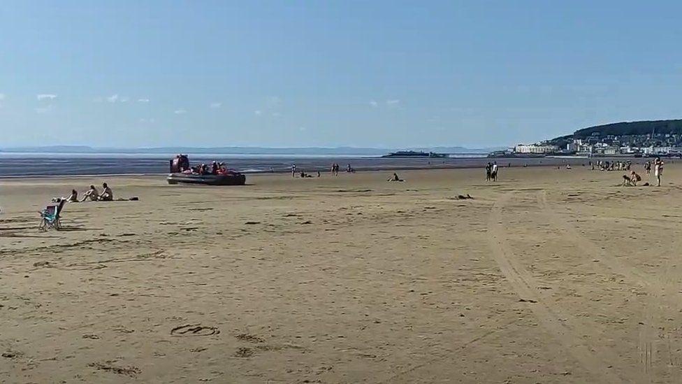 Weston Beach rescue on Saturday