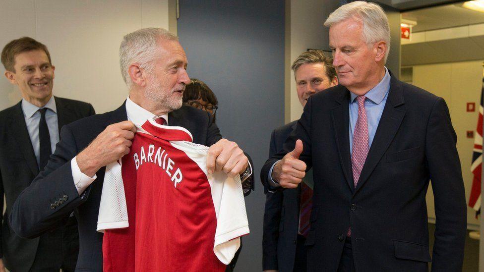 Jeremy Corbyn and Michel Barnier