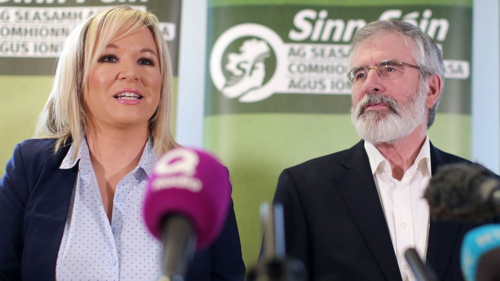 Michelle O'Neill and Gerry Adams