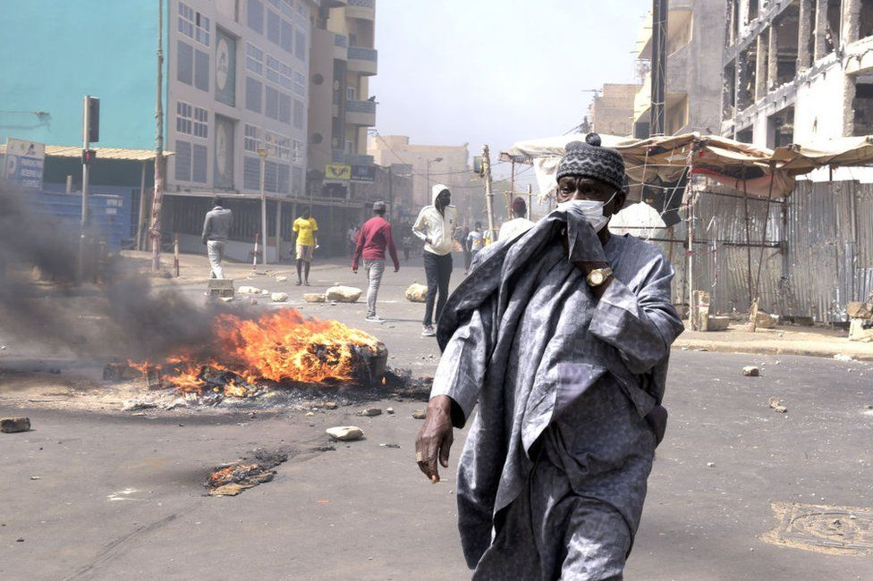 Police have used tear gas against protesters in the capital Dakar