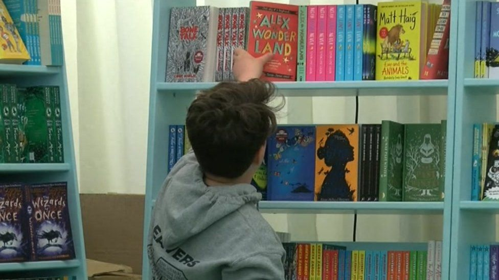 Children's books on sale at the Hay Festival