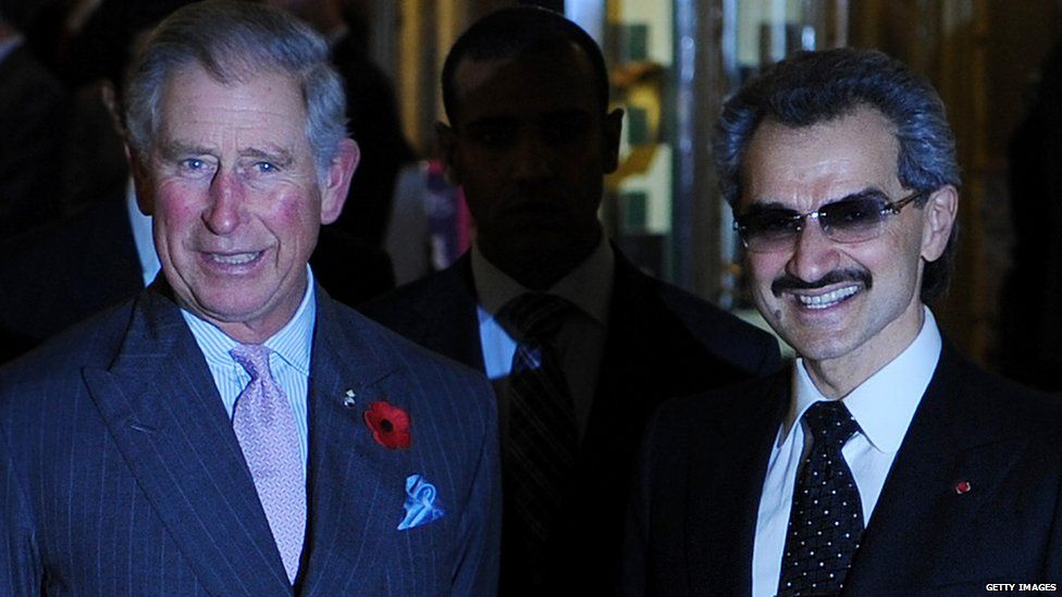 Prince Alwaleed bin Talal meeting Prince Charles in 2010