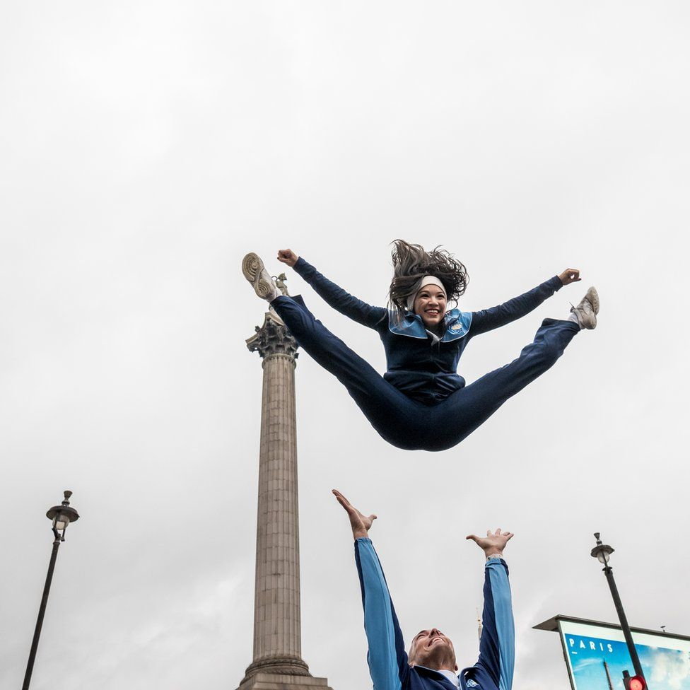 Athlete in Trafalgar Square